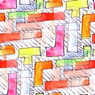 Obraz Mural barevné pruhy bezešvé vzor na pozadí