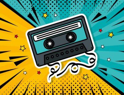 Obraz music cassette pop art style vector illustration design