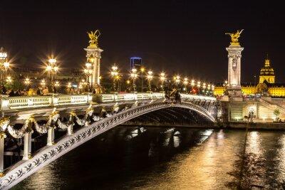 Obraz Můstek Alexandre III v Paříži