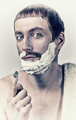 Obraz muž holení