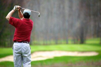 Obraz Muž se těší golfu