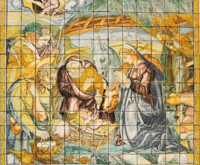 Obraz Náboženské keramická dlažba, Nativity, Lisabon, Portugalsko