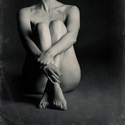 Obraz Nahá sedící ženy