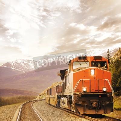 Obraz Nákladní vlak v kanadských Rockies