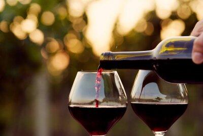 Obraz Nalévá červené víno