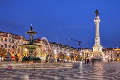 Obraz Náměstí Rossio, Lisabon, Portugalsko
