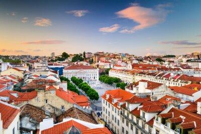 Obraz Náměstí Rossio v Lisabonu