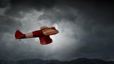 Obraz Nebezpečí nárazu letounu. Smíšená média