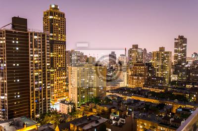 New York City, Letecký Noční pohled na Upper East Side