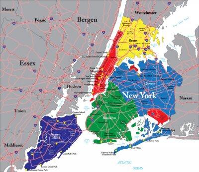 New York City mapa