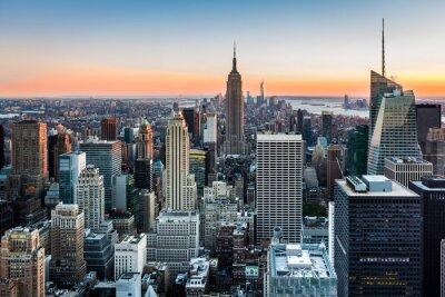 Obraz New York Skyline při západu slunce
