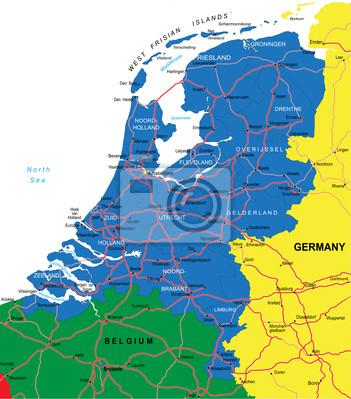 Nizozemsko mapa