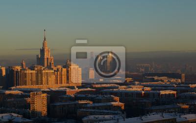 Noční Moskva.