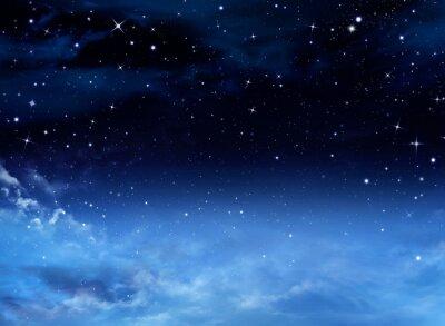 Obraz Noční obloha s hvězdami