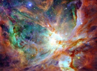 Obraz Noční obloha s mraky hvězd mlhovina pozadí. Barevné fraktální barva, světla na téma umění, abstraktní, tvořivosti. Planet a galaxie ve volném prostoru. Prvky tohoto obrázku zařízeném NASA.