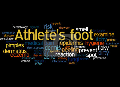 Obraz noha, slovo mrak pojetí sportovní