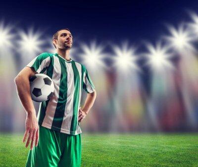 Obraz Nohejbal hráč s míčem