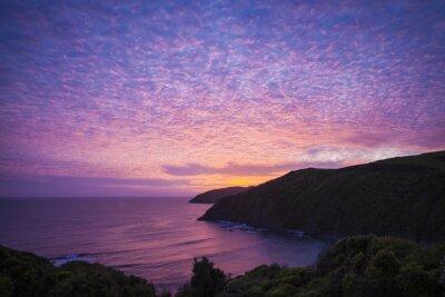 Obraz Nugget Point Catlins Nový Zéland večer