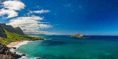 Obraz Oahu východním pobřeží pohled krajiny