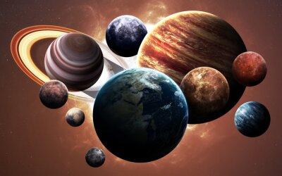 Obraz Obraz s vysokým rozlišením představuje planet sluneční soustavy. Tyto obrazové prvky poskytované NASA