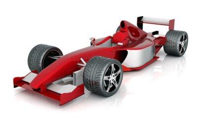 Obraz obrázek červené sportovní auto na bílém pozadí