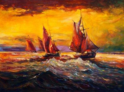 Obraz Oceán a loď