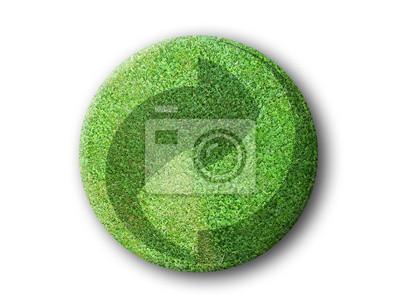 odznak logo recyclage en Herbe