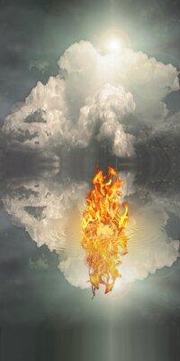 Obraz Oheň a voda