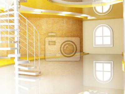 oknem a schody