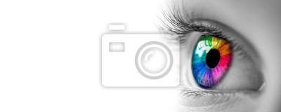 Obraz Oko S Barvami Duhy