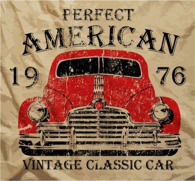 Obraz Old American Car Vintage tričko Graphic Design