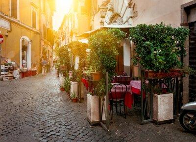 Obraz Old Street v Trastevere v Římě, Itálie