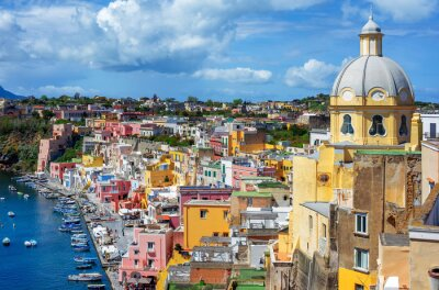 Old town, Procida island, Naples, Italy