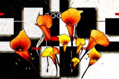 Obraz Olejomalba Abstraktní květina