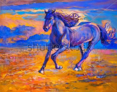 Obraz Olejomalba běžného koně. Moderní umění