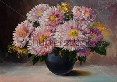 Obraz Olejomalba na plátně - zátiší květiny na ukradené
