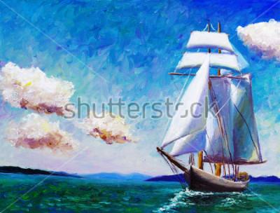 Obraz Olejomalba - plachetnice