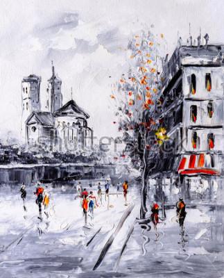 Obraz Olejomalba - Street View z Paříže