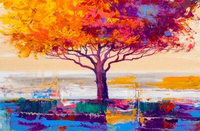 Obraz Olejomalba stromů, umělecké pozadí