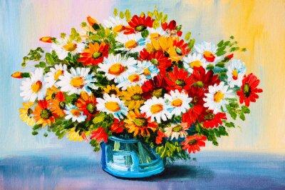 Obraz Olejomalba - zátiší, kytice květin