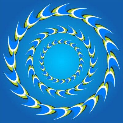 Obraz optický klam kruh ocasy