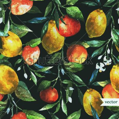 Obraz oranžová, citron, akvarel, pozadí, tmavý, vzor