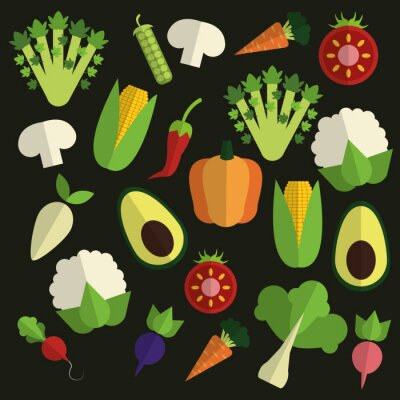 Obraz Organické navrhování potraviny