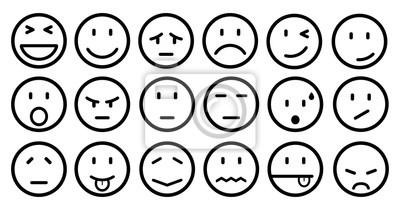 Osmnact Smajliku Smyslne Emoce Smajliky Kreslene Emotikony Obrazy