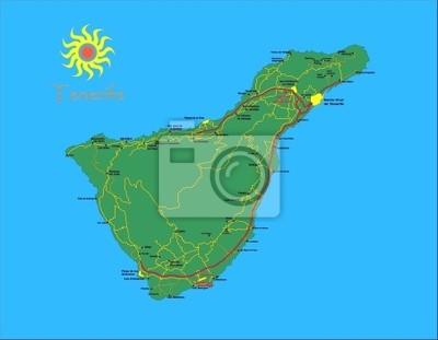 Ostrov mapa Tenerife