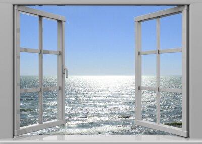 Obraz Otevřené okno do Summertime - 3D