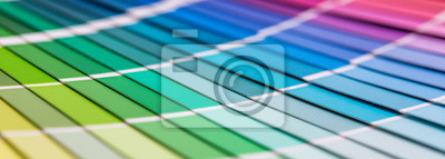 Obraz Otevřený Pantone vzorek barvy katalogu.