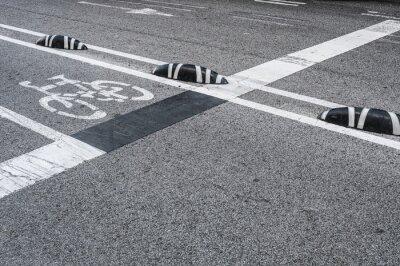 Obraz Označení jízdních pruhů ve městě