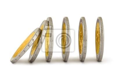 Padající mince jako domino