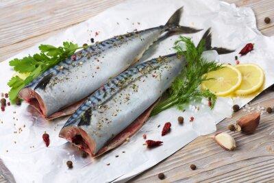Obraz pair makrely s kořením na fólii na pečení